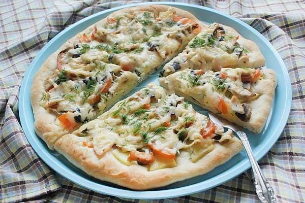 гавайская пицца рецепт на слоеном тесте в духовке