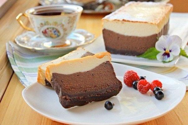 Шоколадно-кофейный сырник фото