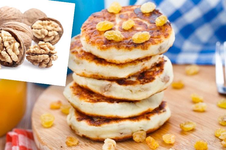 сырники из творога рецепт с орехами и изюмом