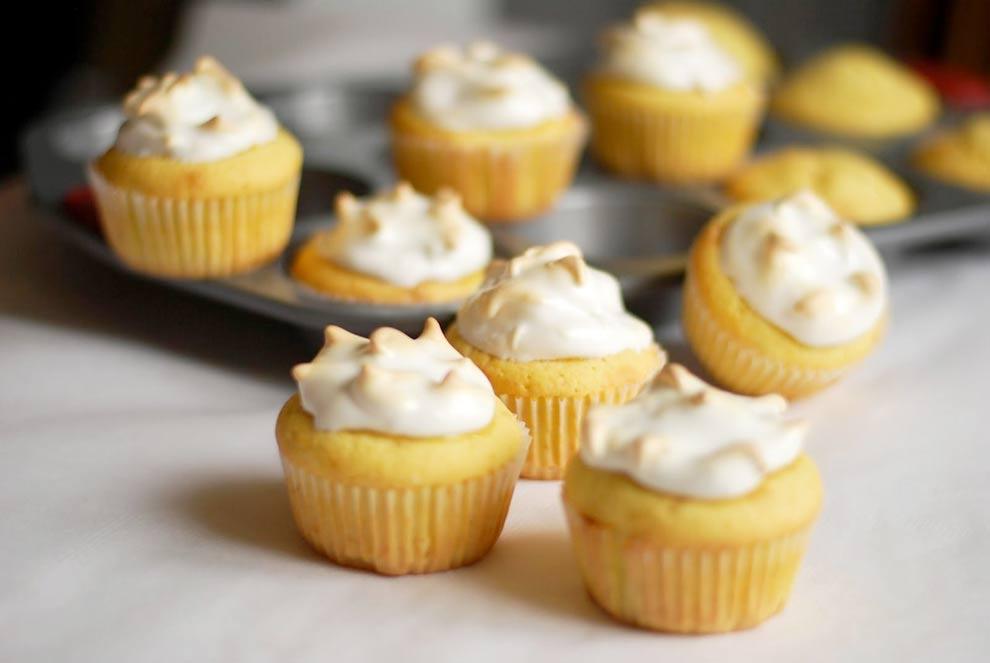 Лимонные капкейки рецепт с фото