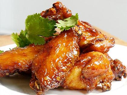 Крылышки в медово соевом / Baked chicken wings