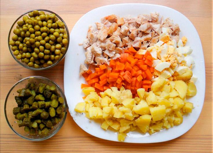 Салат оливье пошаговый рецепт