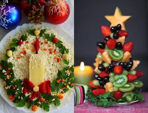 Украшение салатов на новый год 2015 рецепты фото