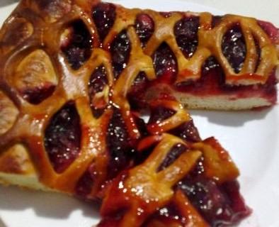 вишневый пирог из дрожжевого теста рецепт с фото