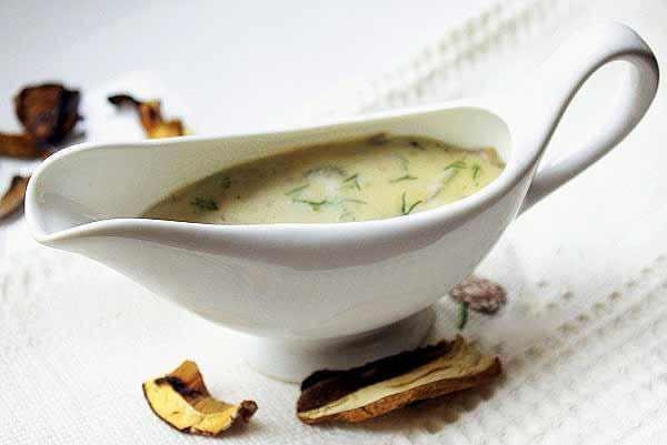Соус из молотых сушеных грибов рецепт